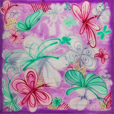 Apaszka Pastelowe Motyle