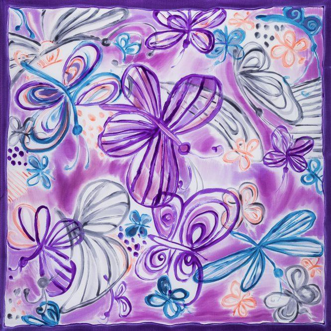 Gawroszka Motyle Fioletowe