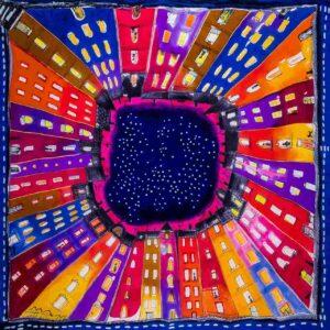 chusty z jedwabiu Silkadore ręcznie malowane na 100% jedwabiu