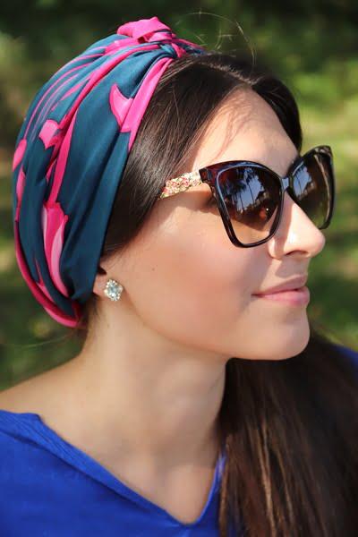 jak wiązać turban z apaszki na głowie