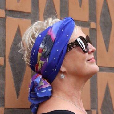 jak zawiązać szal na głowie
