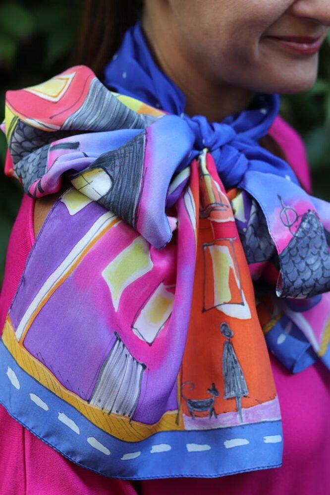 jak wiązać szal do sukienki