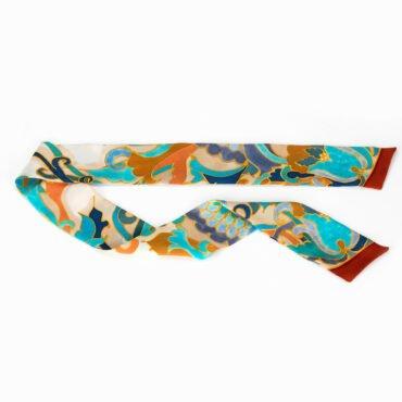 szaliki jedwabne ręcznie malowane w stylu retro